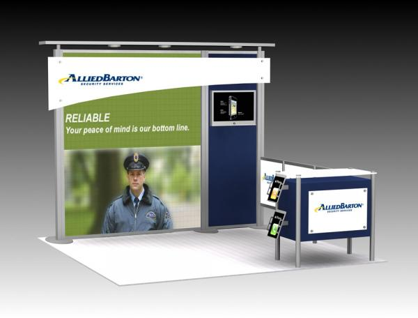 Trade Show Exhibit -- 10' x 10' version