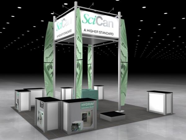 RE-9052 Rental Exhibit / 20� x 20� Island Trade Show Display � Image 4