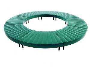 Endless Closed Circle Ottoman -- Trade Show Furniture Rental