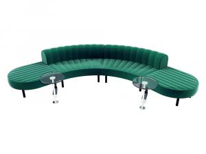 Endless Powered Low Back Comma Sectional -- CESS-062 -- Trade Show Furniture Rental