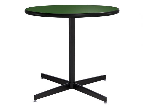 "30"" Round Cafe Table w/ Green Top and Standard Black Base (CECA-025)