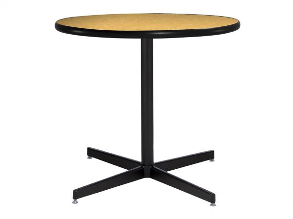 "30"" Round Cafe Table w/ Brushed Yellow Top and Standard Black Base (CECA-029)