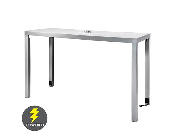 CECT-034 | Ventura Communal Bar Table (White) -- Trade Show Rental Furniture