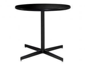 "30"" Round Cafe Table w/ Black Top and Standard Black Base (CECA-024)