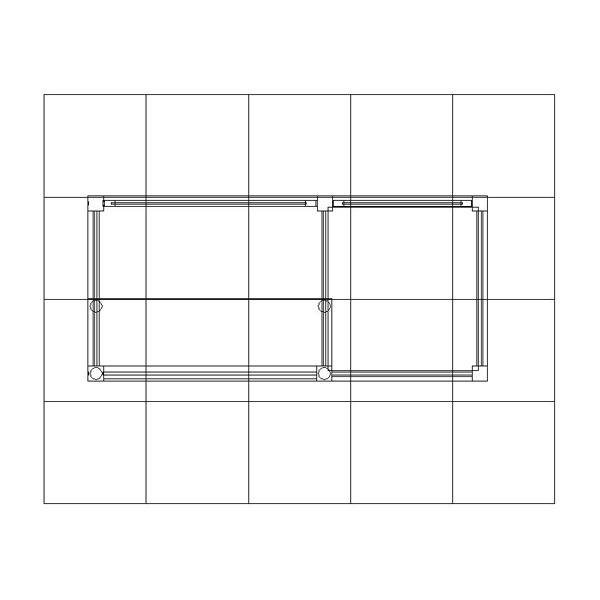ECO-35-C Sustainable Counter Podium Reception - Plan View