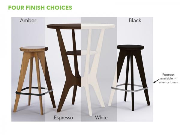 OTM Portable Table and Chairs -- Four Standard Finish Options