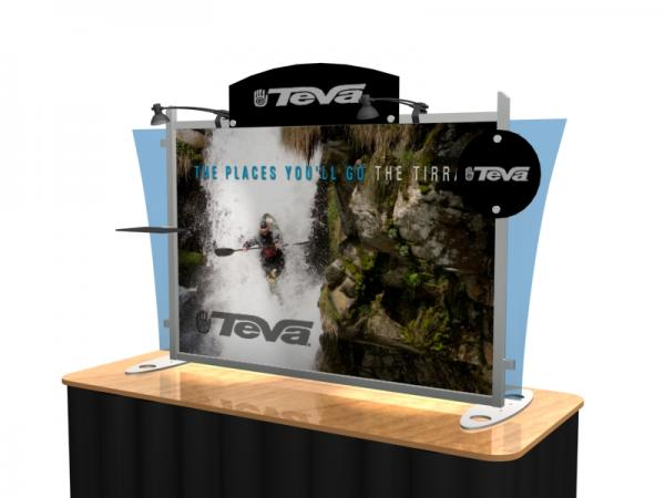 VK-1291 Portable Hybrid Trade Show Table Top Exhibit -- Image 3